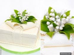 """Оригінальні торти для стилізованого весілля від коровайного дому """"Март"""""""